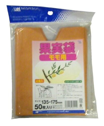 マルソル(MARSOL) 果実袋 桃用 135×175mm 50枚入 白