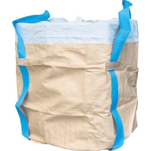 アサヒ コンテナバッグ丸型二重バッグ青ベルト アスベス廃棄用1000kgタイプ 190615 コンテナバッグ