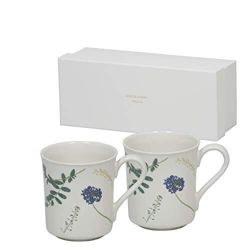 HIBIYAKADAN×MIKASA マグカップ Chum ペアマグカップ 2P リーフ 直径8×奥行11×高さ9cm 290ml 電子レンジ・食器洗浄機・オーブンレンジ